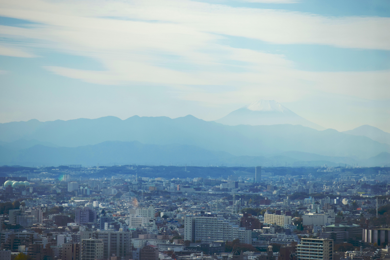 会場から見えた富士山